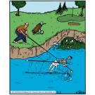 Scooping A Skeleton Out of the Water Hazard.